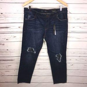 New STS Blue Raw Hem Taylor Straight Leg 30